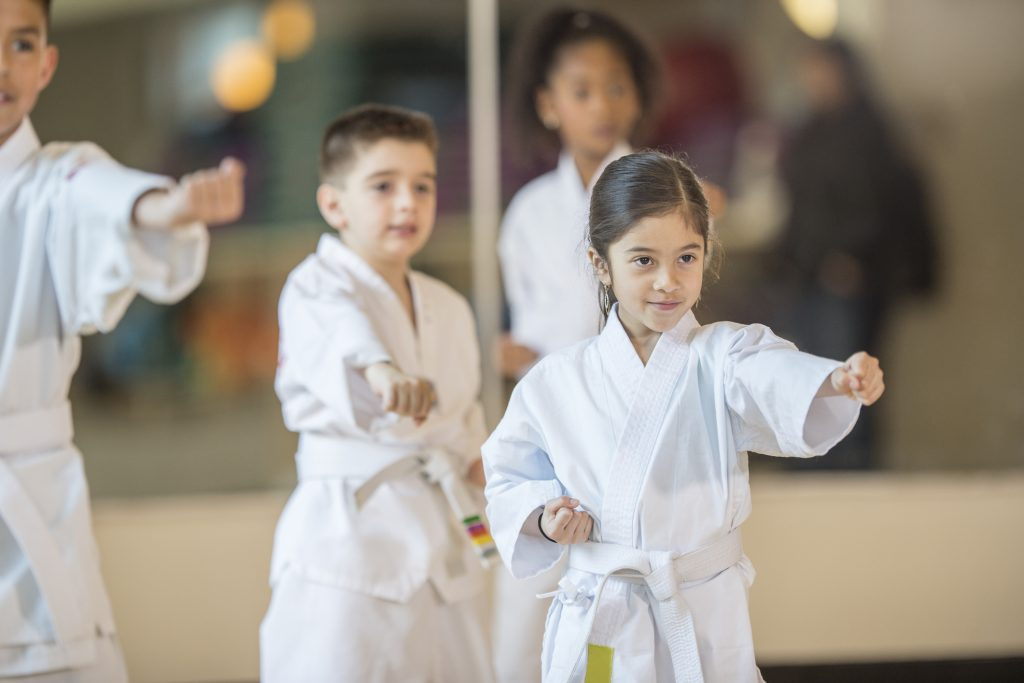 Students From a Kid's Karate Class