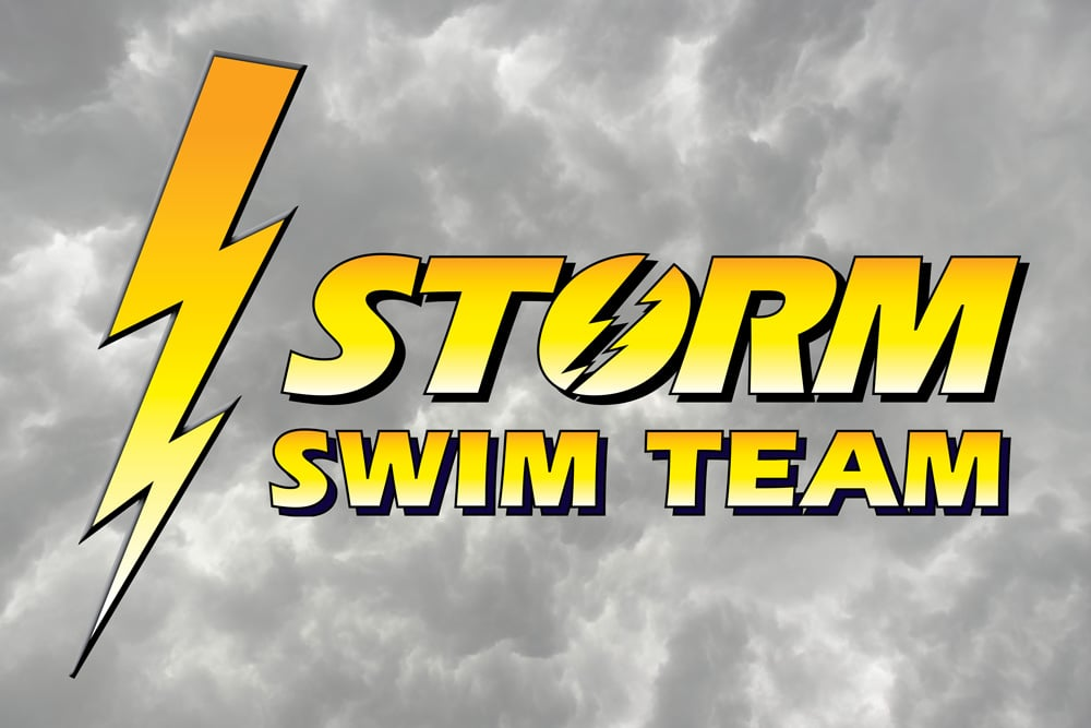 The Storm Swim Team logo