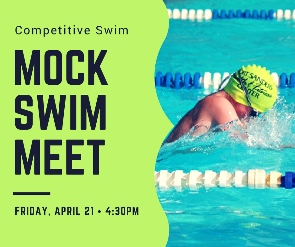 spring 2017 mock swim meet competitive swim sign with child swimming