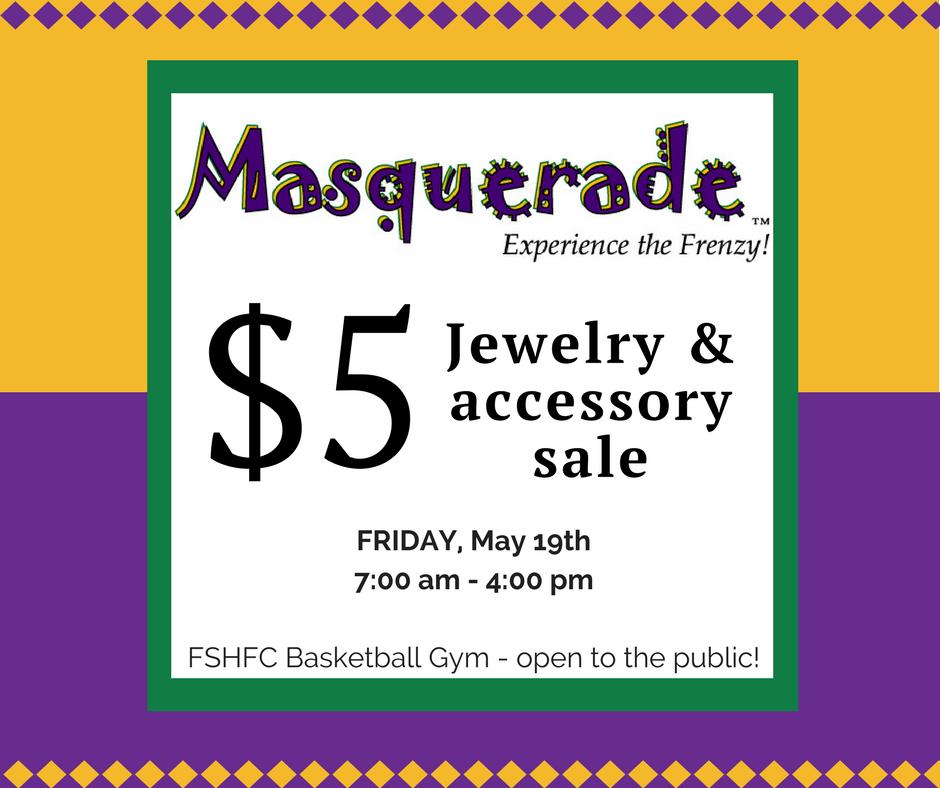Masquerade Jewelry Sale Ad