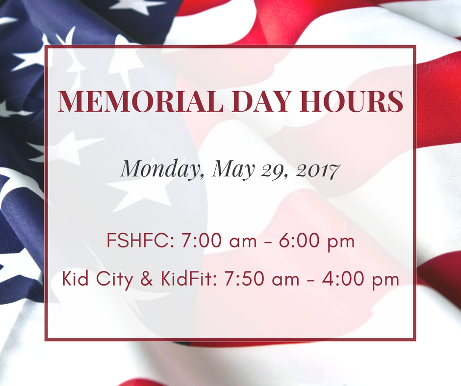 Memorial Day Hours 2017 image of american flag