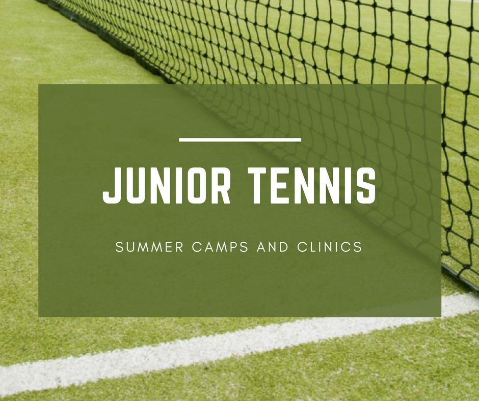 summer junior tennis camps upclose image of grass tennis court