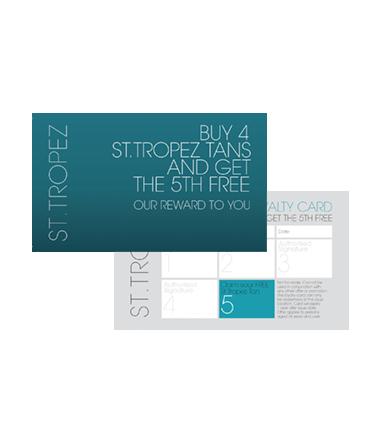 St. Tropez Tan Loyalty Cards