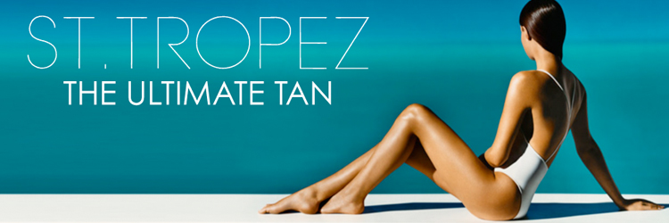 St Tropez Tan Banner Image of Lady Looking into the ocean