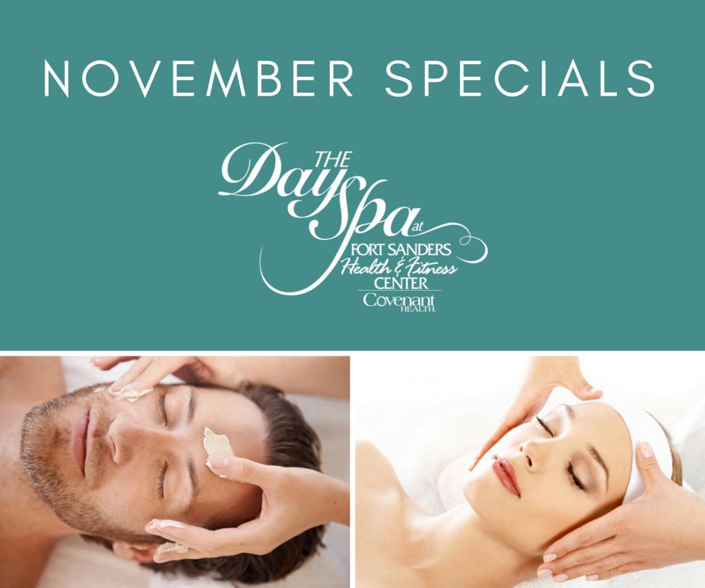 November 2017 spa specials