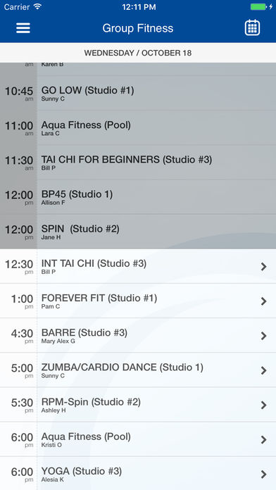 Download the new Fort Sanders Health & Fitness Center  mobile app today to plan and schedule your classes!
