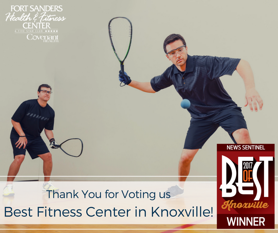 Thank you for voting us Knoxville's Best Fitness Center in the 2017 Knoxville News Sentinel Best of Knoxville!!!