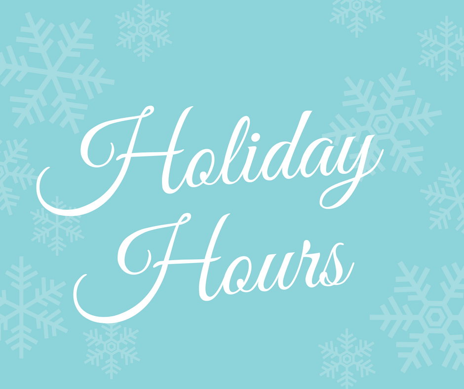 FSHFC Holiday Hours