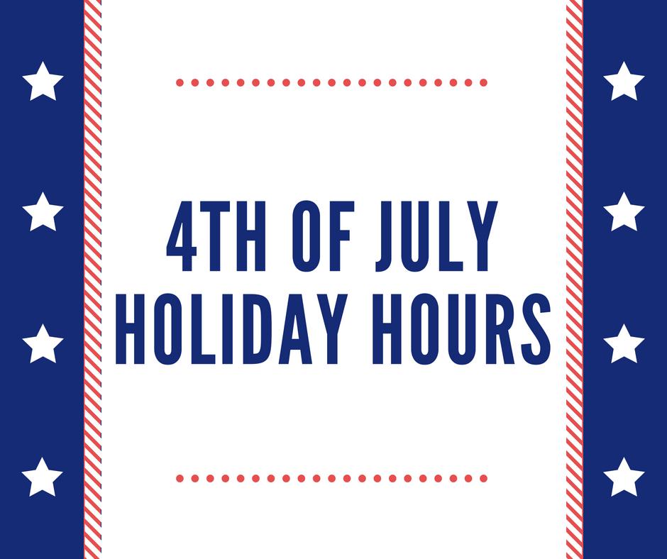 July 4th Hours FSHFC
