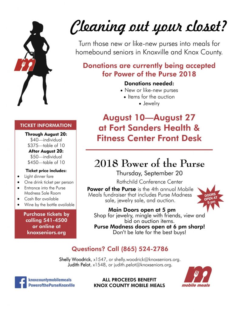 Power of the Purse 2018 Fort Sanders Health and Fitness Center