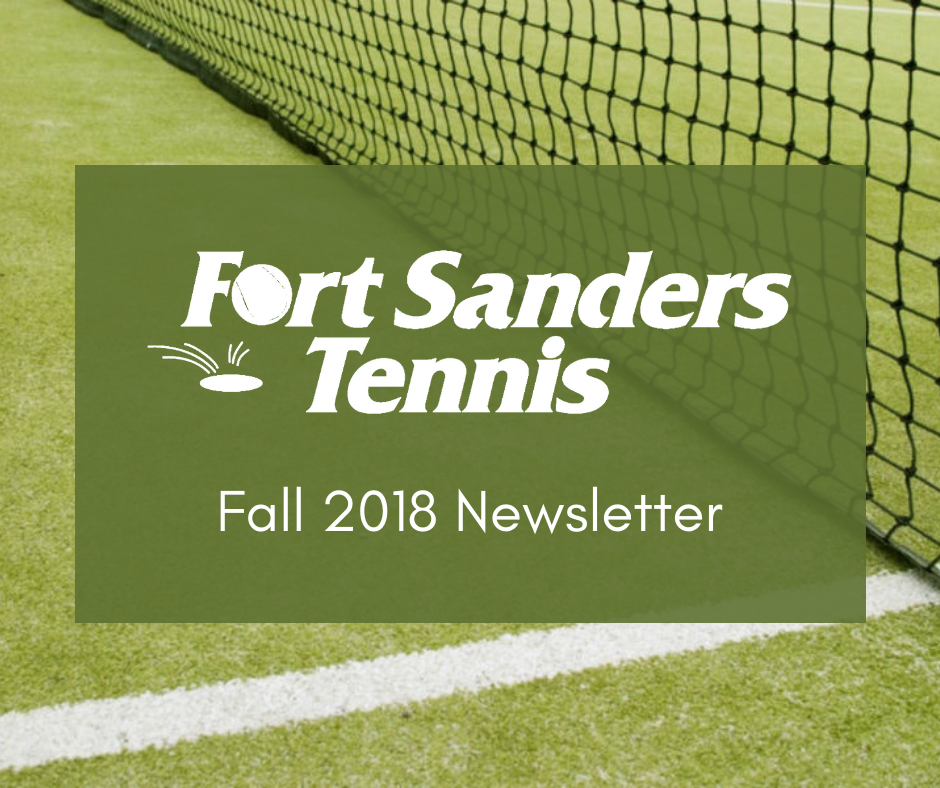 Fall 20108 Tennis Newsletter