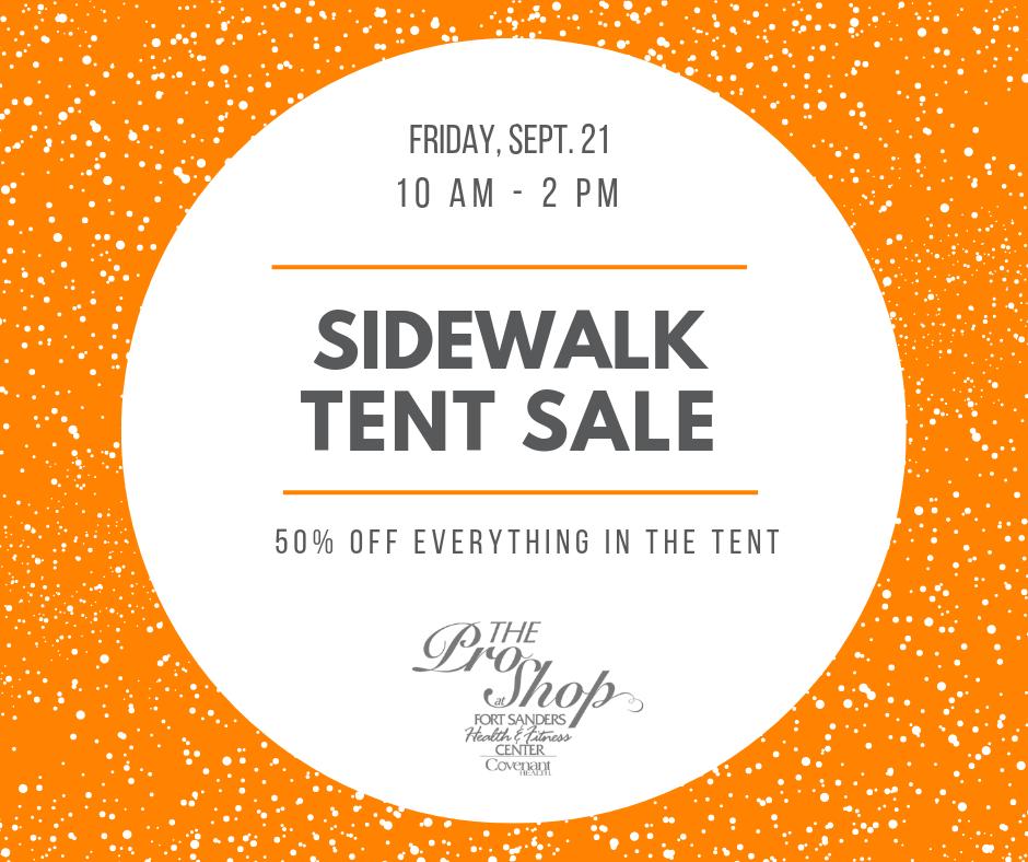 The Pro Shop Sidewalk Tent Sale - Sept 21 2018