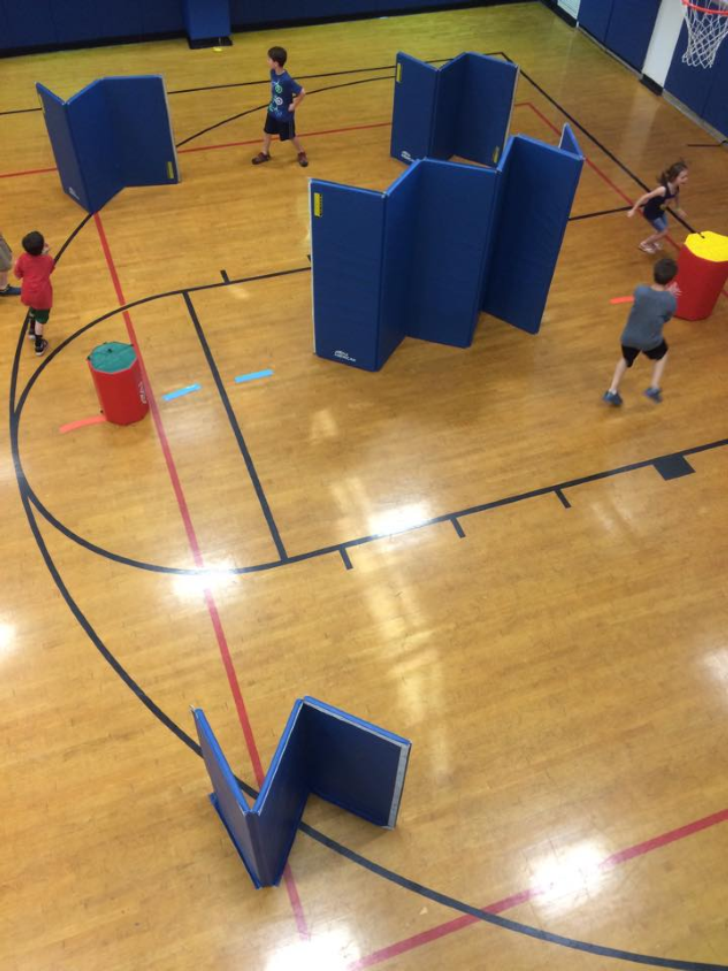 Kids playing in a gym